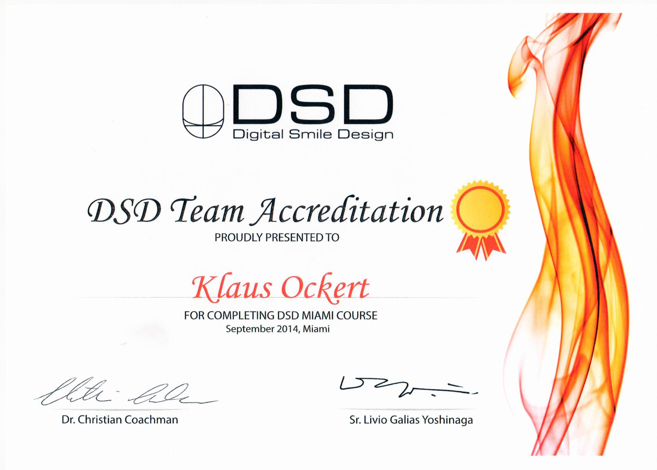 Digital Smile Design - Accreditation